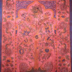 Obrus - makata - pawie - czerwień