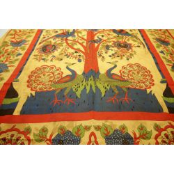 Obrus - makata - pawie - piaskowy