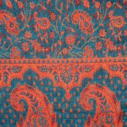 Szal nepalski - paisley - morski z dynią