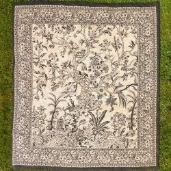 Narzuta bawełniana - drzewo życia - ecru