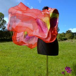 Woal jedwabny - czerwona impresja