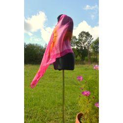 Woal jedwabny - różowa impresja