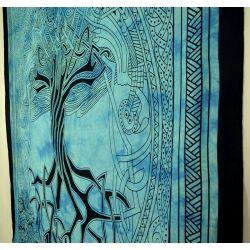 Obrus - makata - mityczne drzewo - turkus