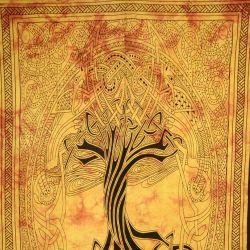 Obrus - makata - zasłona - mityczne drzewo - żółty