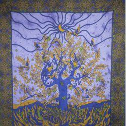 Narzuta bawełniana - zasłona - okno - blady fiolet