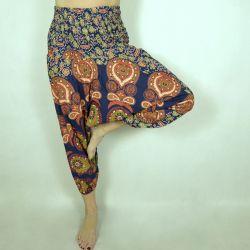 Spodnie - bawełniane szarawary - granatowa mandala