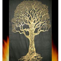 Obrus - makata - mądre drzewo - grafit ze złotem