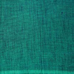 Bawełna ręcznie tkana - melanż ciemna morska zieleń