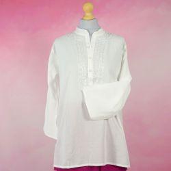 Tunika indyjska bawełniana - krótka - klasyczna ze stójka