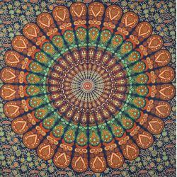 Obrus bawełniany - makata - atramentowa mandala