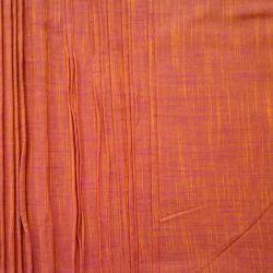 Bawełna ręcznie tkana - pomarańczowo - żółty melanż