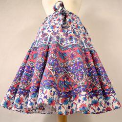 Spódnica indyjska z koła z karczkiem - fioletowo różowa