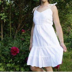 Sukienka indyjska bawełniana - krótka - z dużą koronką