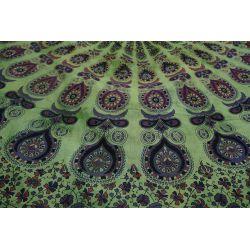 Narzuta bawełniana - batikowa mandala - wiosenna zieleń