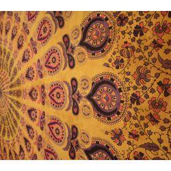 Narzuta bawełniana - batikowa mandala - dynia