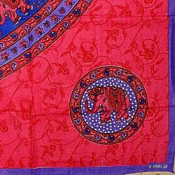 Narzuta bawełniana - różowa karawana