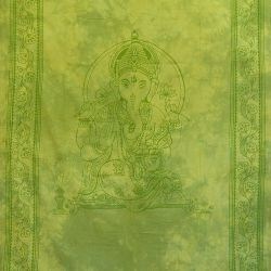 Obrus - makata - zasłona - zielony Ganeśa