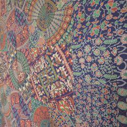 Narzuta bawełniana - kolorowy jarmark - granat
