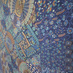 Narzuta bawełniana - kolorowy jarmark - z morskim