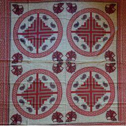 Narzuta bawełniana - prząśniczki - czerwień