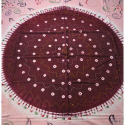 Narzuta bbawełniana - ręcznie malowana - bordo