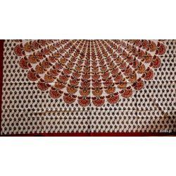 Narzuta bawełniana - klasyczna mandala - czerwień