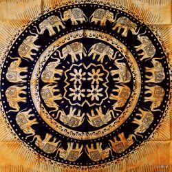 Obrus - klasyczne słonie - słonecznik