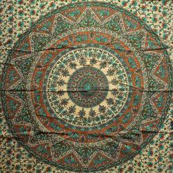 Obrus - mandala z zielenią