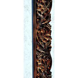 Rama drewniana - brązowa XXL