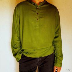 Koszula męska - trawiasty rayon
