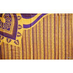 Narzuta bawełniana - zacny słoń - słonecznik z fioletem