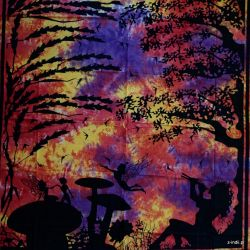 Narzuta bawełniana - marzyciele - malina