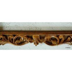 Rama drewniana - białe lilie - mat