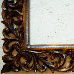 Rama drewniana - mahoniowa lilia - połysk