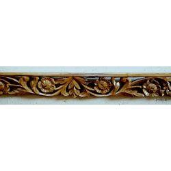 Rama drewniana - rude kwiaty - lekki połysk