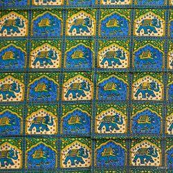 Narzuta bawełniana - królewska karawana - ciemny turkus