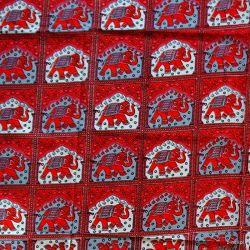 Narzuta bawełniana - królewska karawana - karmazyn