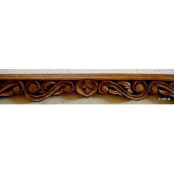 Rama drewniana - ażurowe liście - rudy