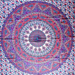 Obrus - mandala z fioletem