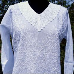 Tunika indyjska bawełniana - haftowana