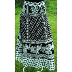 Spódnica indyjska  kopertowa - długa - biała