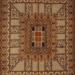Narzuta bawełniana - pałacowe puzzle - khaki