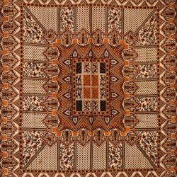 Narzuta bawełniana - pałacowe puzzle - brunatny