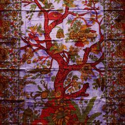 Obrus - drzewo życia - fiolet