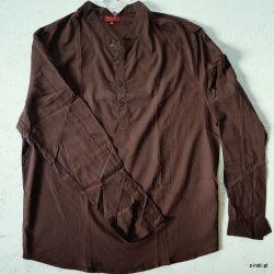 Koszula - czekoladowa bawełna