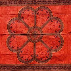 Obrus - mandala - pomarańcza