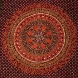 Narzuta bawełniana - kopuła w kropki - wiśnia