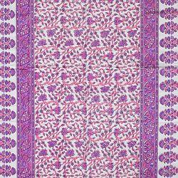 Narzuta bawełniana - fioletowa łąka