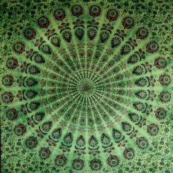 Obrus - duża mandala - seledyn