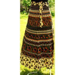 Spódnica indyjska  kopertowa - długa - szara